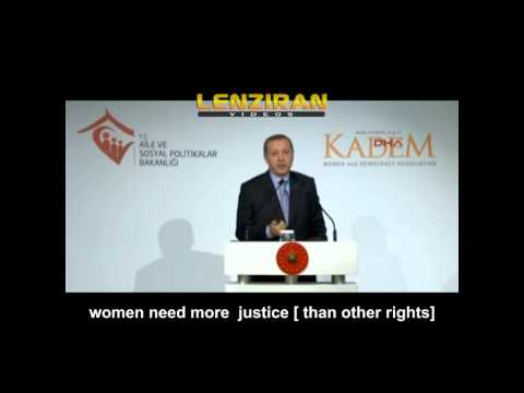 What Turkish president Recep Tayyip Erdoğan said about equality of men and women