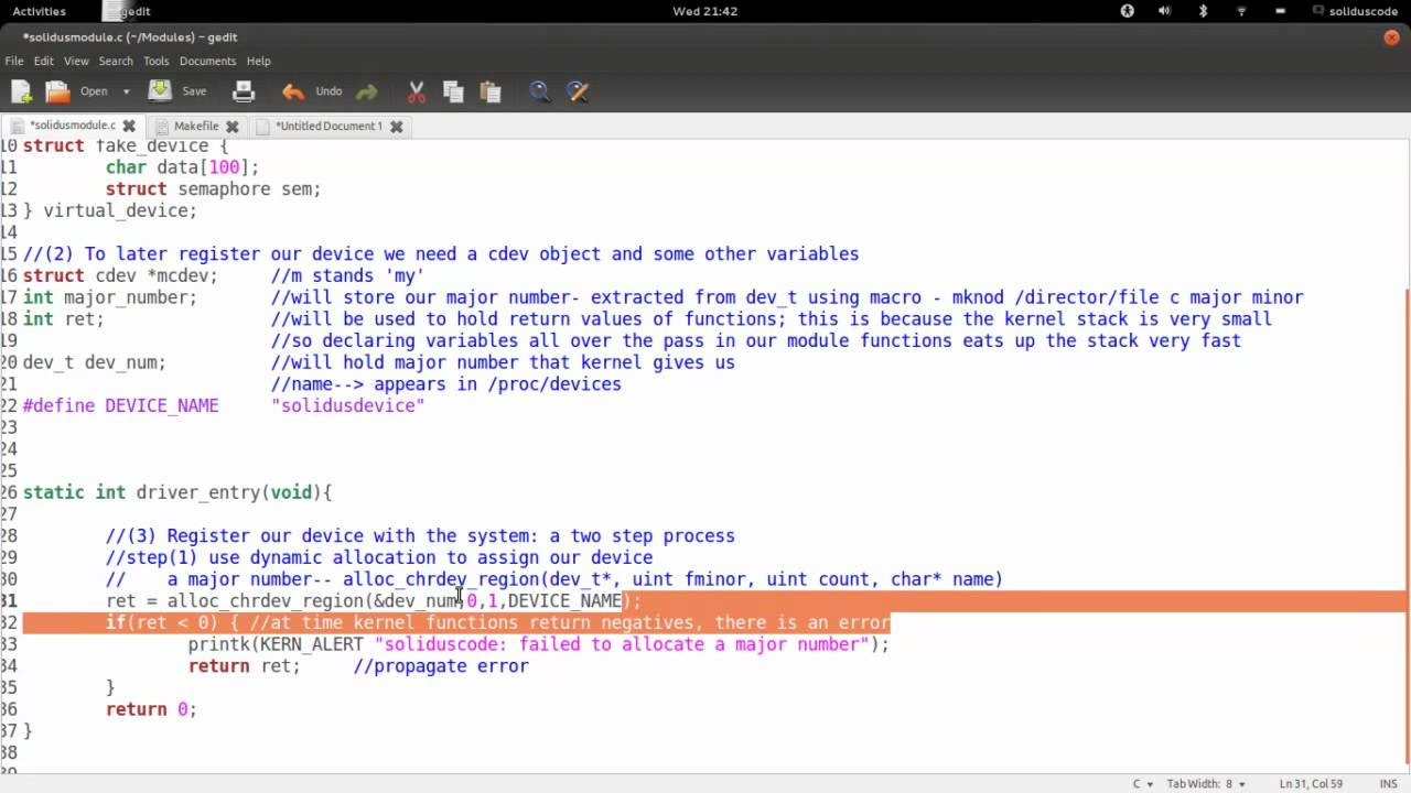 How to write a char driver in linux
