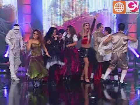 Coreografías grupales por Halloween (El Show de los Sueños PERU 31-10-09)