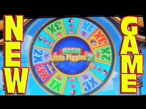 Rich Little Piggies 2 - NEW SLOT MACHINE - Live Play and Bonus Win