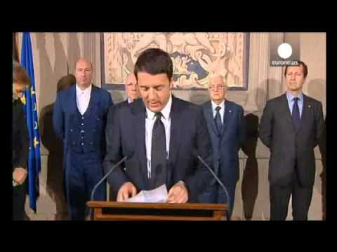 Italy's Renzi forms new government, to be sworn in later