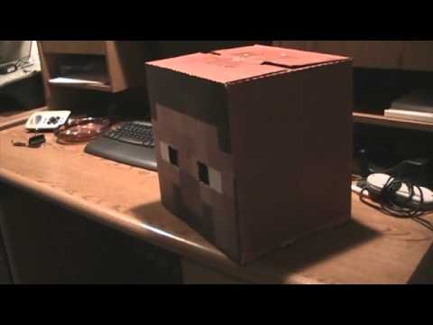 Homemade Minecraft Steve Head Costume