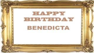 Benedicta   Birthday Postcards & Postales - Happy Birthday