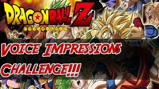 Taking on The Dragonball Voice Impressions Challenge!