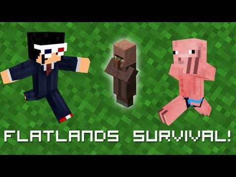 Minecraft: Flatland Survival with superCalzer #2: 18 Wheat Guy!