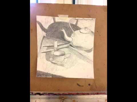artistic process: graphite still life