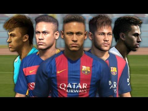 Neymar from PES 2012 to PES 2017