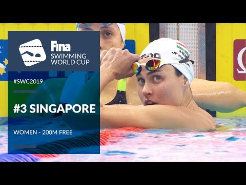 Women's 200m Freestyle | Day 2 Singapore #SWC19 | FINA Swimming World Cup 2019