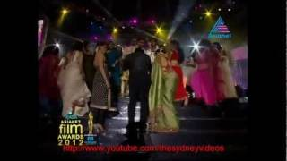 Swapna Sanchari - Asianet Film Awards 2012 Shahrukh khan performance HD