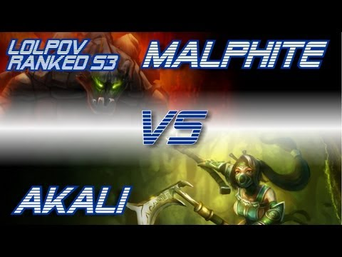 � LoLPoV - Malphite vs Akali [Mid] Ranked Road to Diamond S3 (League of Legends Live Commentary)