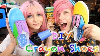 DIY Crayon Shoes With Robby // Craft Off