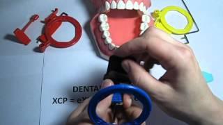 How to use an Anterior (blue) XCP dental film / PSP holder