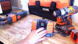 RIDGID X4 18V 5 Pc. Combo Kit R9551- Review - Tools In Action