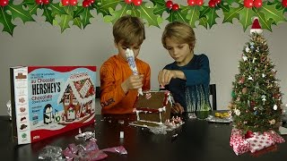 Building a Hershey Gingerbread (um Cookie) house.  Is it a messy fail or just cute?