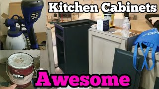 Kitchen Cabinets Refacing Behr Paint Spray Painting | Finish Max Super HomeRight