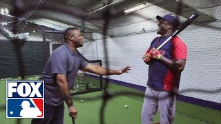 Ken Griffey, Jr. and Big Papi share Randy Johnson stories