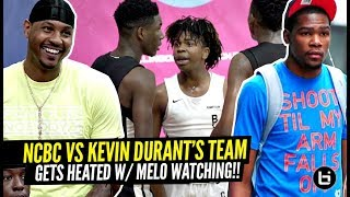 North Coast Blue Chips HEATED Game vs Kevin Durant's Team w/ Carmelo Anthony Watching!!