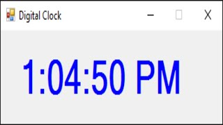 C# Tutorial - Digital Clock with 2 Lines of Code | FoxLearn