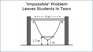 """Impossible"" Math Problem Leaves 15 Year Olds In Tears - New Zealand (Parabola Question)"
