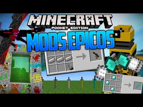Los Mejores Mods Épicos sin textura para Minecraft PE 1.0.6   Mods para tu survival #3