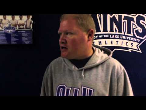 OLLU Women's Basketball: Saints 98- Bacone College 50 (2-1-14) Post Game Interview
