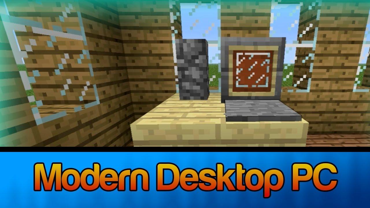 Minecraft make a modern desktop computer decoration - Minecraft dekoration ...