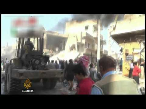Syria regime jets bomb crowded market