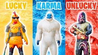 LUCKY vs KARMA vs UNLUCKY in PUBG MOBILE