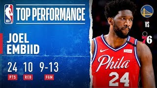 Joel Embiid Records 24 PTS For 76ers
