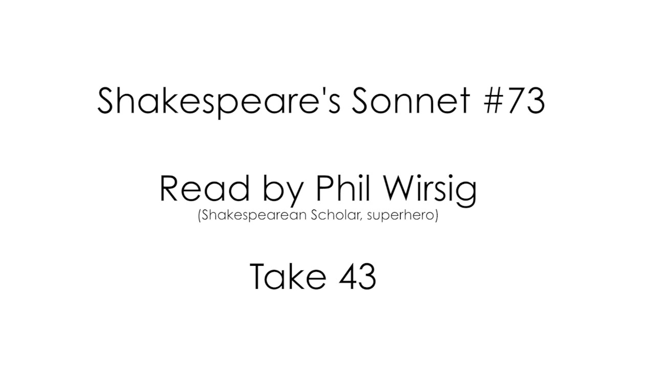 comparison of shakespeares sonnet 73 and Category: comparison compare contrast essays title: comparison of shakespeare's sonnet 73 and sonnet 116.