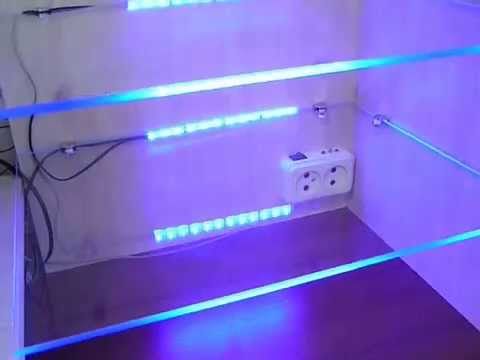 Как сделать светодиодные ленты на полку 721