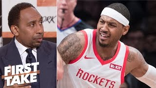Carmelo Anthony should go to Lakers, Heat or just retire - Stephen A. | First Take