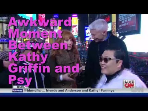 Awkward Exchange Between Psy and Kathy Griffin On New Years at Times Square on CNN