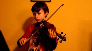 Kreutzer Etude #2--Dylan plays violin