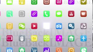 Stock Footage app icon smartphone tablet application program SmartPhone apps G7 Bw1 HD 1
