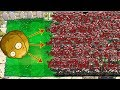Plants vs Zombies Hack - Giant Wall-nut vs 99999 Football Zombie