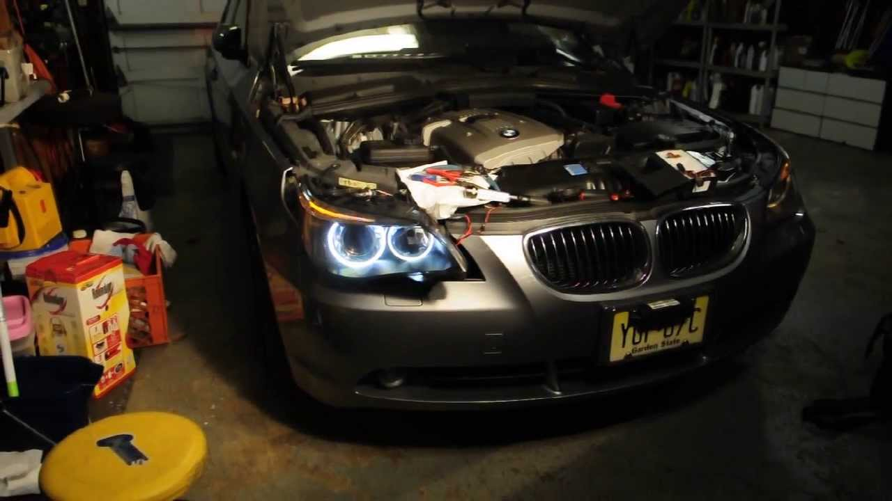 bmw e60 5 series angel eye how to install youtube. Black Bedroom Furniture Sets. Home Design Ideas