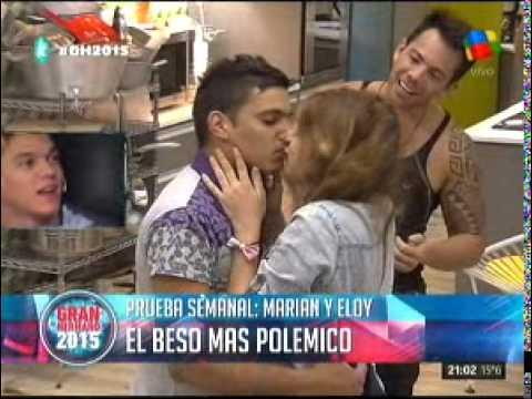 El polémico beso de Marian y Eloy, hermano de Brian