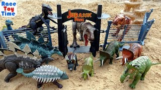 Huge Jurassic World Dinosaurs Collection Toys For Kids - Let's Visit the Jurassic Park!