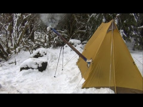 Another Overnight in the UltraLight Backpacking Hot Tent and Hammock Hot Shelter