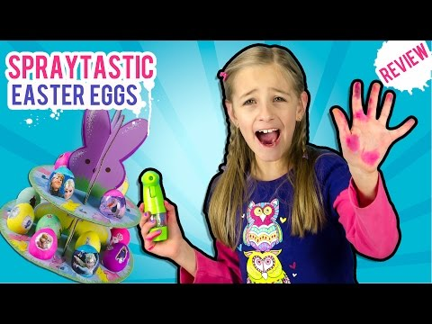 Coloring EASTER EGGS with Spraytastic Frozen Eggs DIY Craft Video Review by PLP