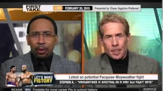 ESPN First Take - Floyd Mayweather vs. Manny Pacquiao 2015 - Pacquiao-Mayweather fight