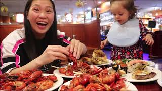 Vlog 636 ll Búp Phê Hải Sản Crawfish, Hàu Sống, Cua Đá. Quên Lối Về