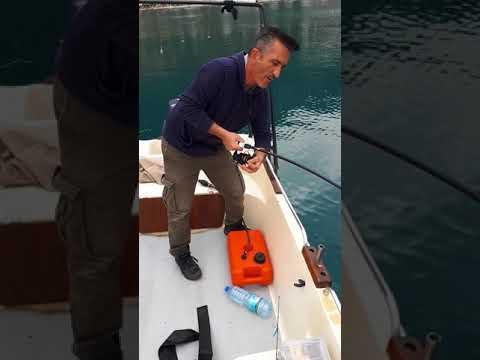 Kalama Sesine Doyurup Üçlü İğneyi Açan Dev Balık