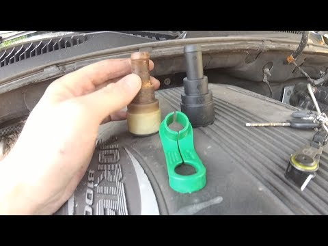 Chevy Truck Heater Hose Quick Disconnect Removal DIY