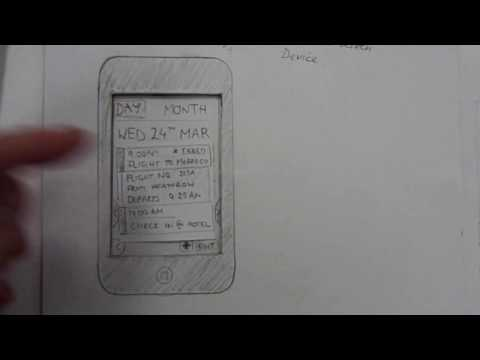 Travellr iPhone/Andriod App - Paper Prototype