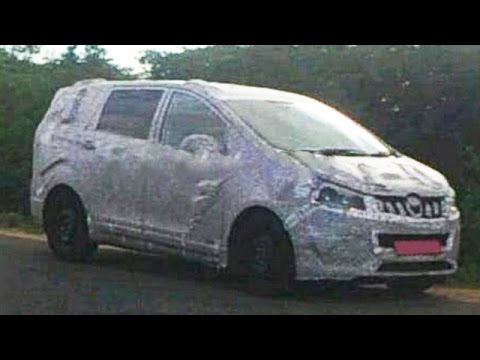 Upcoming Mahindra MPV Spied Testing