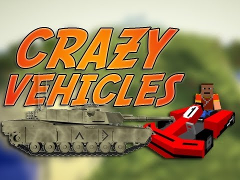 Minecraft CRAZY VEHICLES Mod