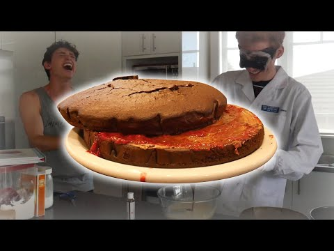 Amateur Cook Tries to Bake a Cake Blindfolded