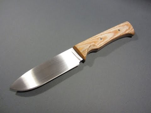 Making a knife with only common tools - time-lapse